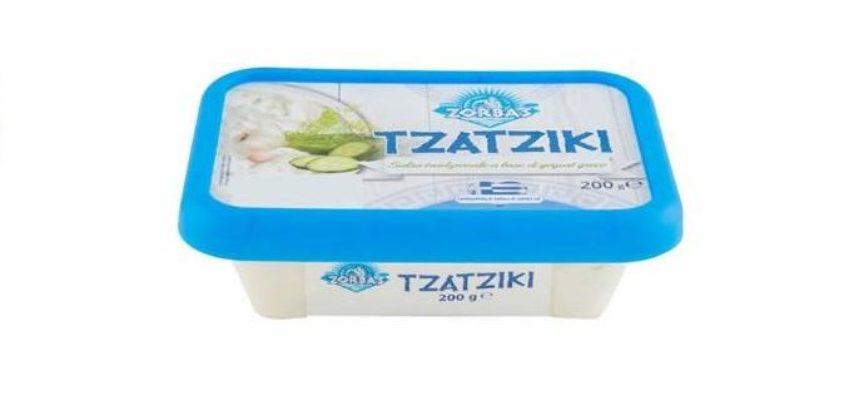 Ritiro salsa Tzatziki per allergeni non dichiarati: MARCA e LOTTO