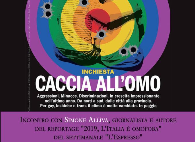 Lotta all'omofobia, a Lucca un incontro col giornalista dell'Espresso Simone Alliva