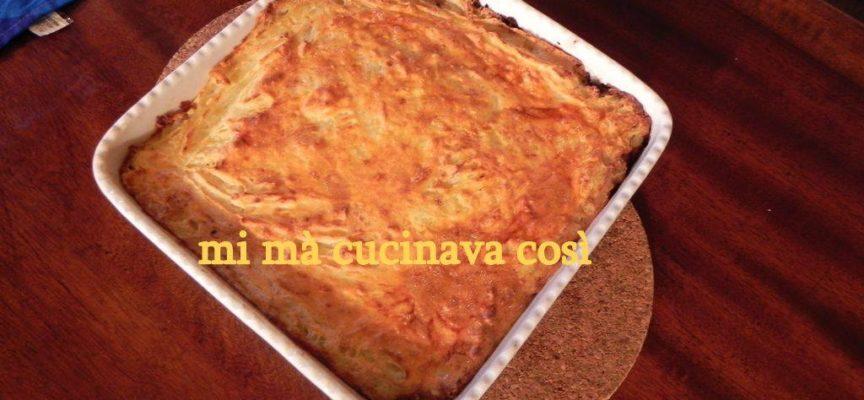 TORTA DI PATATE GARFAGNINA SENZA PASTA