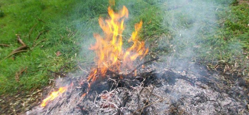 Rischio incendi, dal 6 aprile di nuovo possibili gli abbruciamenti,