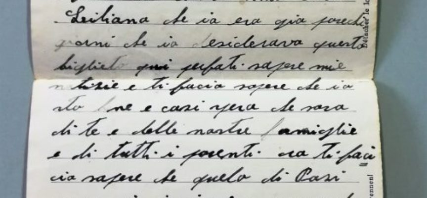 Il Percorso della Memoria: consultabili nella Digital Library le lettere dal fronte del geniere seravezzino Giuseppe Balderi