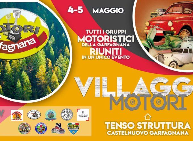 VILLAGGIO MOTORI 4-5 MAGGIO ZONA IMPIANTI SPORTIVI CASTELNUOVO DI GARFAGNANA (anche in caso di pioggia)