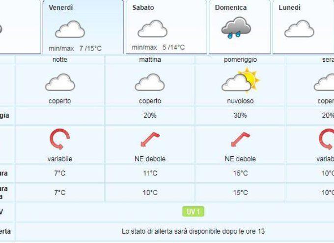 il Meteo del LAMMA Toscana,  aggiornamento 11 aprile