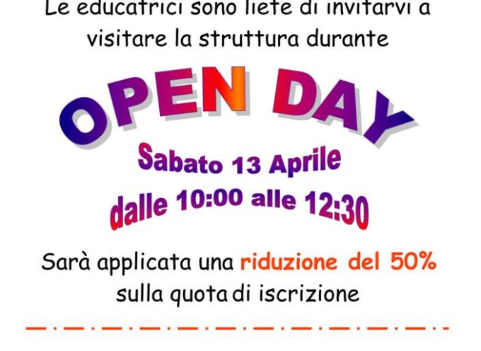 PORCARI – SABATO OPEN DAY AL NIDO ALICE