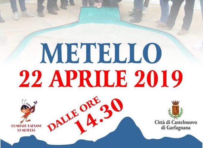 """A Metello per Pasquetta, rivive l'antico gioco del """"Rotolino""""."""
