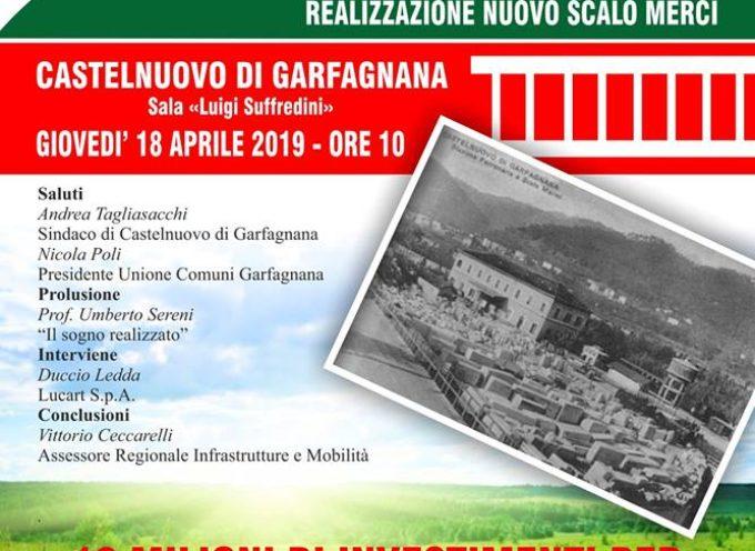Sarà firmato giovedì 18 aprile 2019 l'atteso accordo di programma per la realizzazione del nuovo scalo merci di Castelnuovo di Garfagnana.