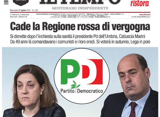 IL PD PERDE UN'ALTRA REGIONE: SI DIMETTE CATIUSCIA MARINI