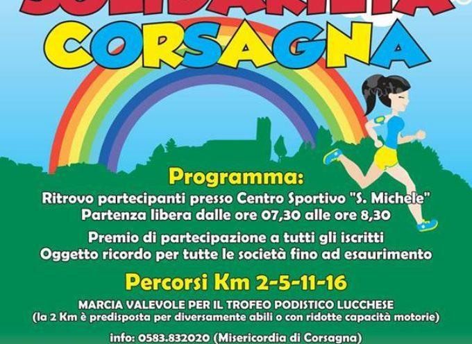 la 14ª Marcia della Solidarietà  nella frazione di corsagna comune di  Borgo a Mozzano