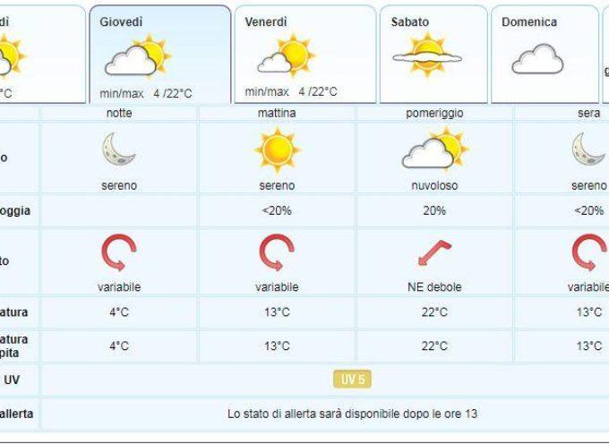 il Meteo del LAMMA Toscana; aggiornamento al 17 aprile