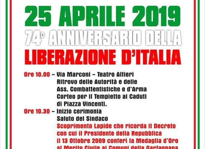 CASTELNUOVO DI GARFAGNANA – Commemorazione dell'Anniversario della Liberazione d'Italia – 25 Aprile 2019