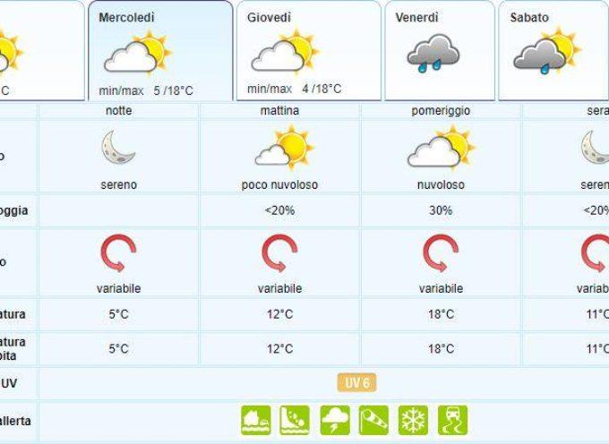 il Meteo del LAMMA Toscana; aggiornamento al  30 aprile