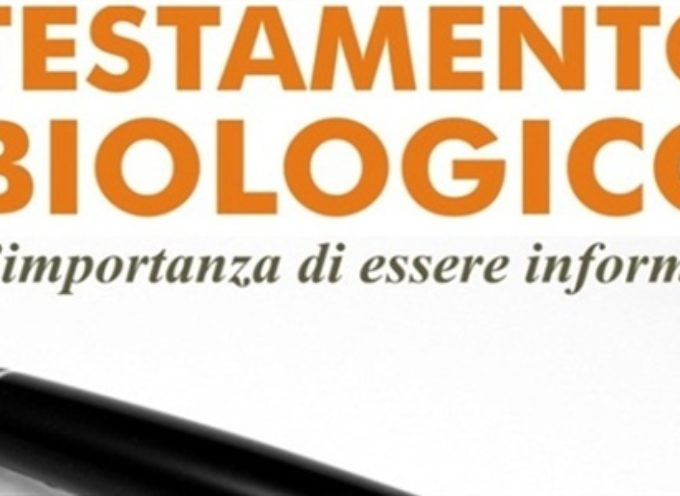 SERAVEZZA – TESTAMENTO BIOLOGICO, CONFERENZA SABATO 27 APRILE PRESSO LA CASA DEI GIOVANI A QUERCETA