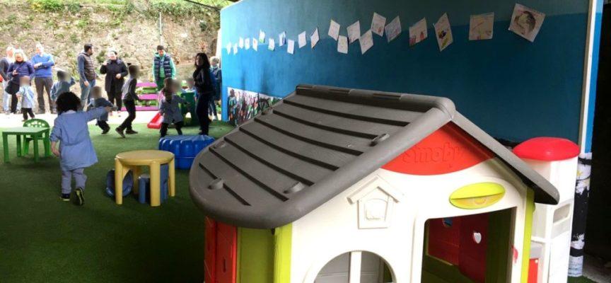 Inaugurato il giardino al coperto della scuola dell'infanzia di Pescaglia