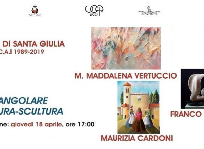 LUCCA –  tre artisti Cardoni, Vertuccio e Pegonzi espongono le loro opere di pittura e scultura in S. Giulia