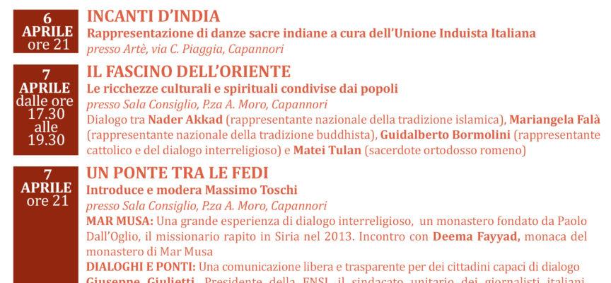 CAPANNORI – PROSEGUE 'I CAMMINI DELL'UOMO', FESTIVAL DEL DIALOGO INTERRELIGIOSO: