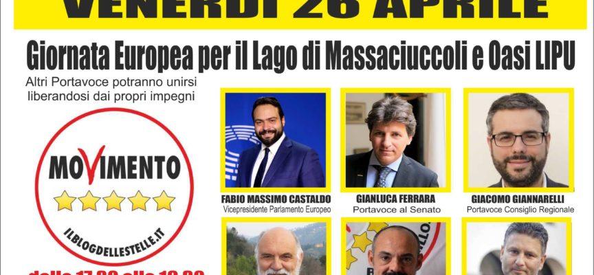 LAGO MASSACIUCCOLI IN BATTELLO PER TUTTI CON IL M5S