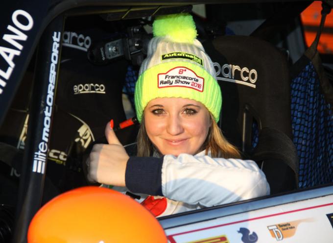 """""""La malattia non vincerà se si sostiene la ricerca""""   Rachele Somaschini pilota di rally"""
