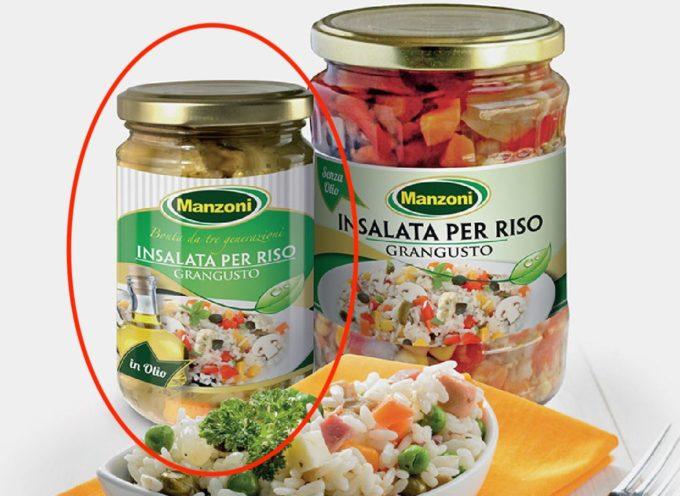 """""""Frammenti di vetro nei vasetti"""", Carrefour richiama insalata per riso in olio Grangusto Manzoni"""
