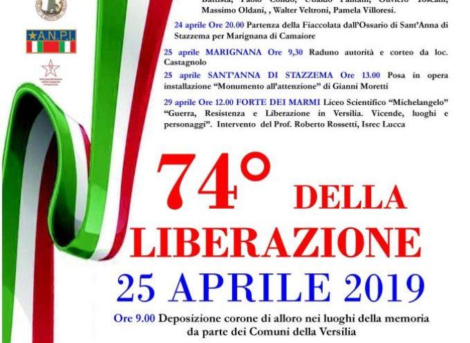 74° ANNIVERSARIO DELLA LIBERAZIONE LE CELEBRAZIONI A SANT'ANNA DI STAZZEMA
