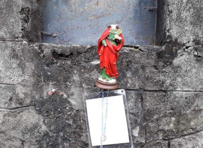 Statua di Santa Lucia decapitata: incidente, gesto blasfemo o atto vandalico?