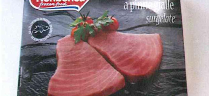 Via dagli scaffali le scaloppine di tonno Pinne Gialle surgelate per istamina oltre i limiti.