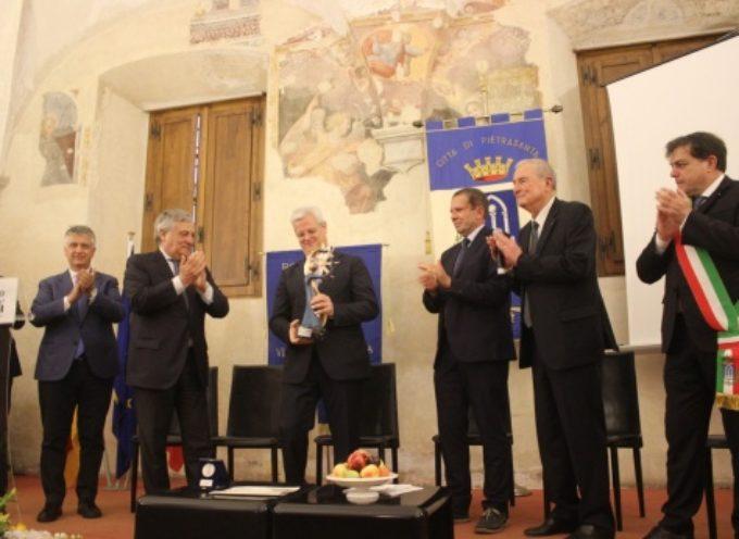 Premio Internazionale Barsanti a Gabriele Allievi (Ad Bosch), per prima volta storia è Presidente Parlamento Europeo a consegnare riconoscimento