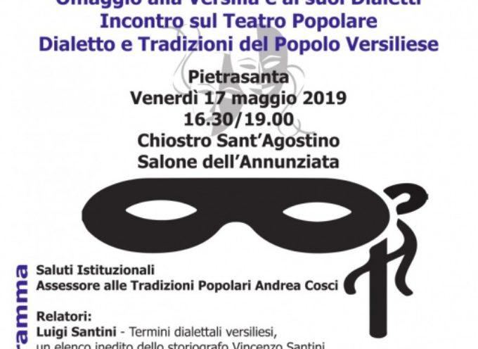 il pietrasantino ed i dialetti della Versilia, un incontro nel Chiostro di S. Agostino