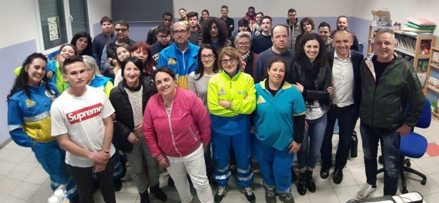 ieri sera grande partecipazione al corso per soccorritori a San Leonardo in Treponzio!