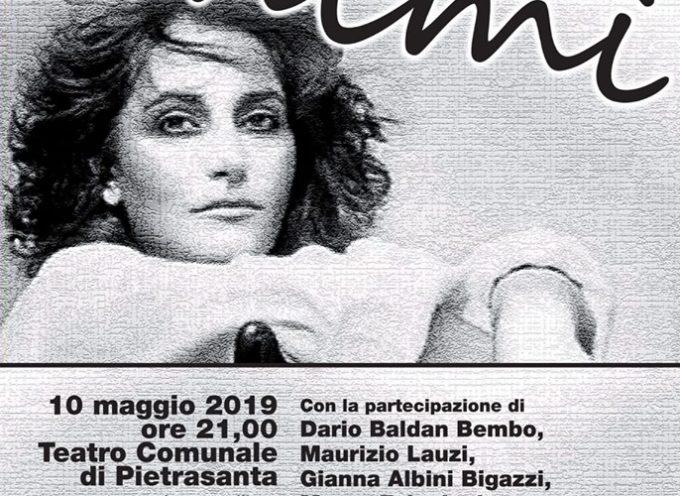 """PIETRASANTA – serata evento per Mia Martini, gran finale per """"Musica e Parole"""" con Fiordaliso, Baldan Bembo, Falagiani e Lauzi"""