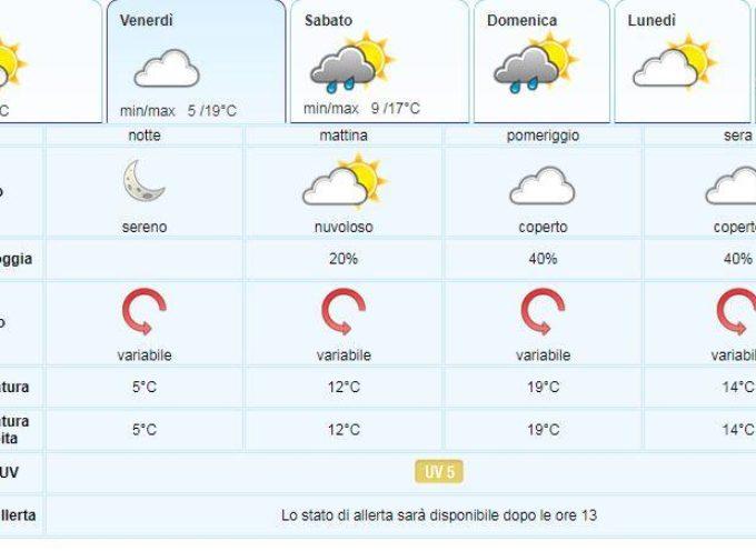 il Meteo del LAMMA Toscana; aggiornamento al  16 maggio