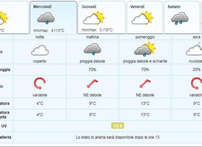 il Meteo del LAMMA Toscana; aggiornamento del 14 maggio