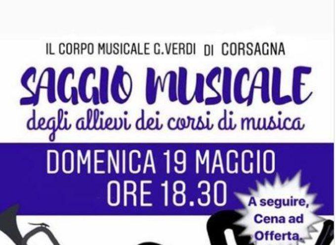 IL SAGGIO MUSICALE – DOMANI A CORSAGNA