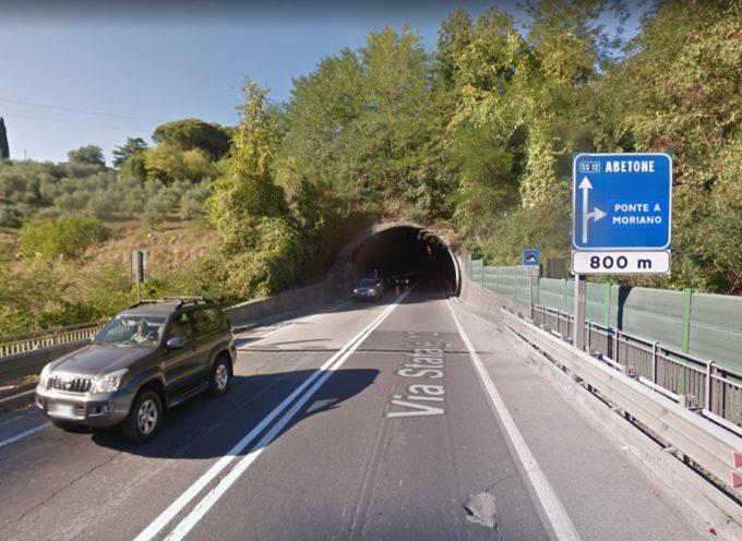 """Lunedì 27 maggio inizieranno i lavori Anas sulla SS12 """"Variante di ponte a Moriano"""""""