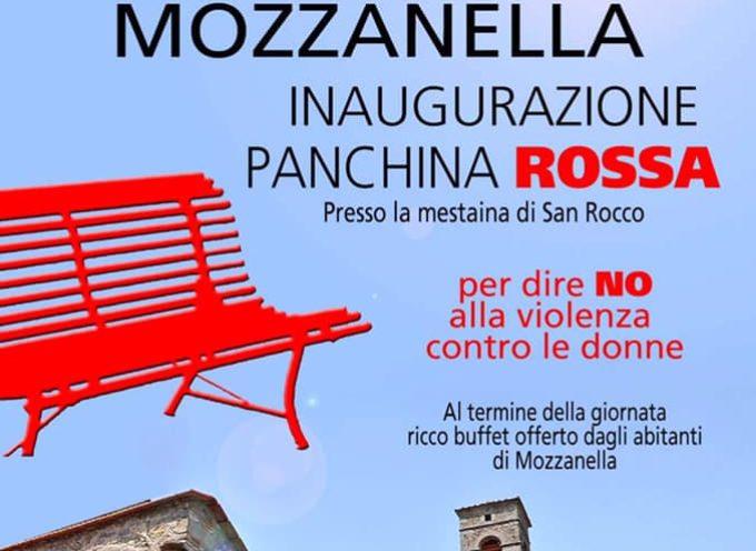 inaugurazione della panchina rossa domenica 2 giugno a MOZZANELLA