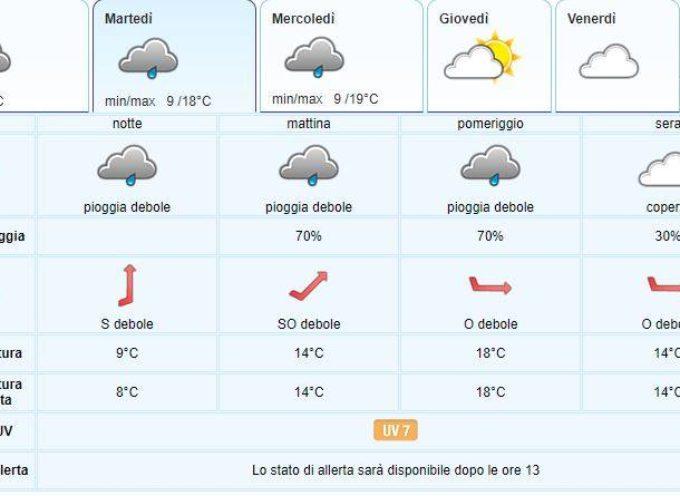 IL Meteo del LAMMA Toscana; aggiornamento del 20 maggio