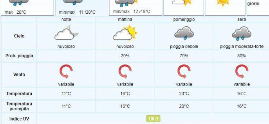 il Meteo del LAMMA Toscana; aggiornamento  del 27 maggio