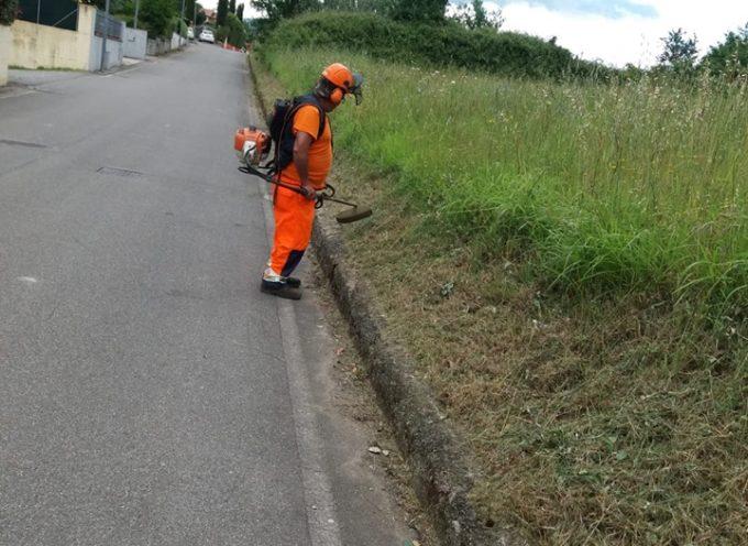 PORCARI – Da ieri, come annunciato, squadre di operai sono al lavoro su tutto il Comune per gli interventi di sfalcio dell'erba.