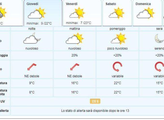 il Meteo del LAMMA Toscana; aggiornamento del  29 maggio
