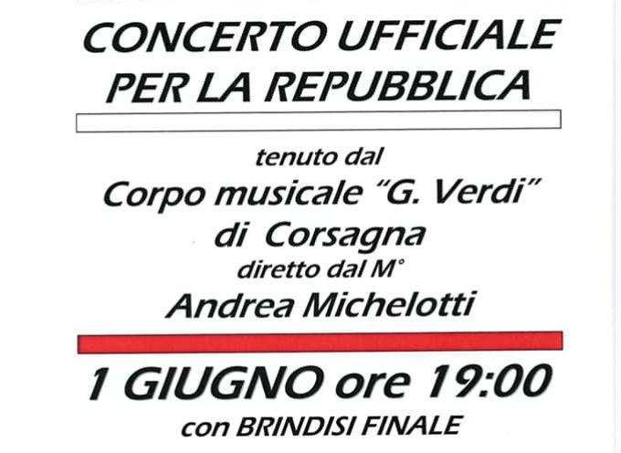 Concerto Ufficiale per la festa della Repubblica; a Bagni di Lucca