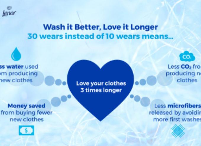 """Lenor lancia la sfida #30wears a tutti gli appassionati di moda: """"Wash it Better, Love it Longer"""""""