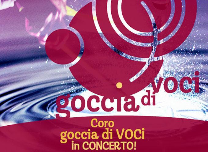 il coro polifonico Goccia di Voci diretto da Lorenzo Sansoni, in concerto nella chiesa di Arliano (Lucca)