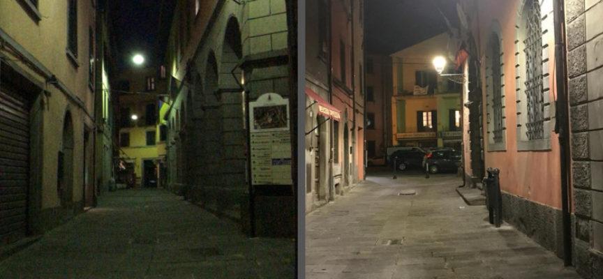 Illuminazione a Castelnuovo Garfagnana; eppur… si vede