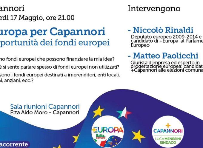 A Capannori  +Europa presenta l'opportunità dei Fondi europei