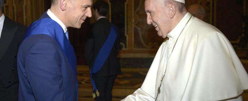 IL PRESIDENTE LUCA MENESINI RICEVUTO IN VATICANO DA PAPA FRANCESCO