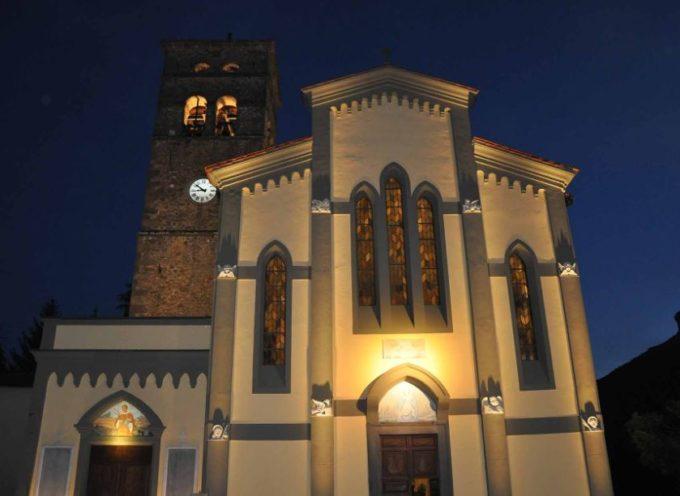 la Chiesa dei Santi Lorenzo e Lazzaro in Nestrignana; Coreglia