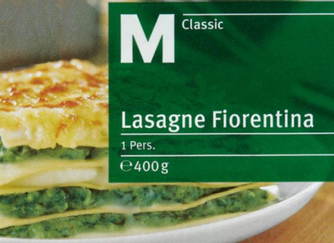Migros richiama le Lasagne Fiorentina M-Classic. Per un errore di imballaggio, il prodotto in questione contiene salmone