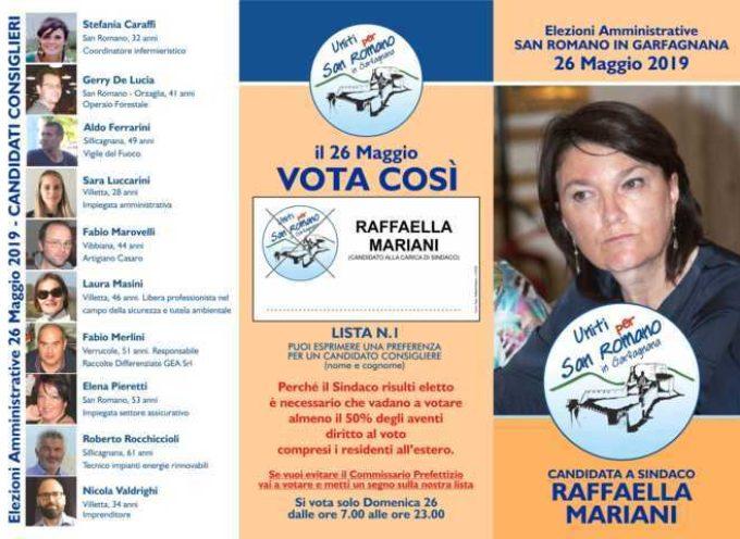 RAFFAELLA MARIANI: Chiusura Campagna Elettorale a San Romano in Garfagnana