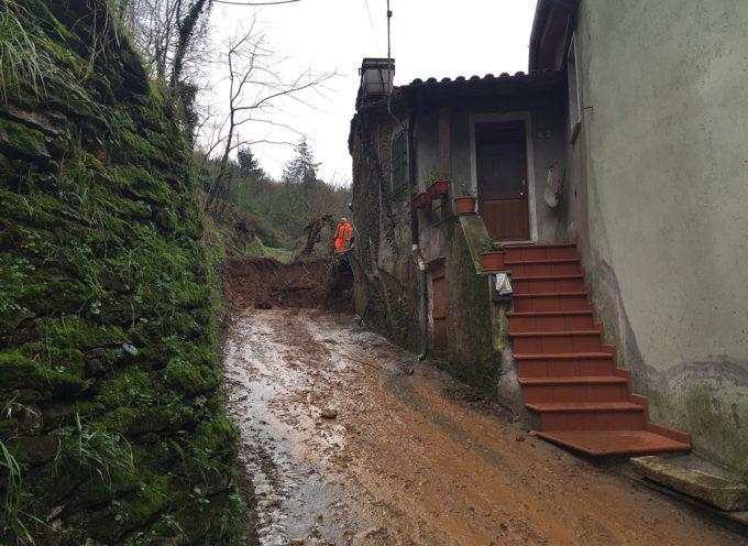 Seravezza: approvati gli interventi di messa in sicurezza del versante della frana dello scorso febbraio, a Riomagno