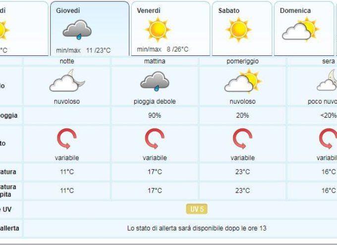 il meteo del LAMMA Toscana; aggiornamento del  5 giugno