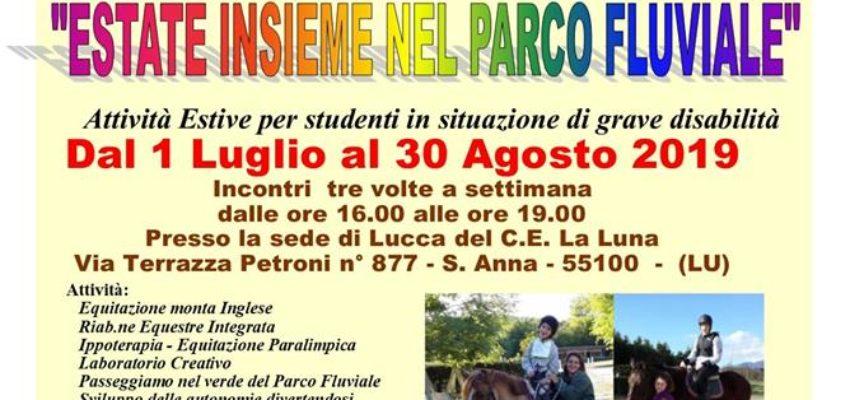 Attività Estive 2019 per studenti in situazione di grave disabilità di tutta la Piana e Media Valle di Lucca